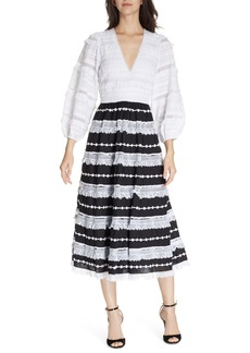 Ulla Johnson Charline Bicolor Midi Dress