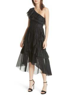 Ulla Johnson Clemente One-Shoulder Organza Dress