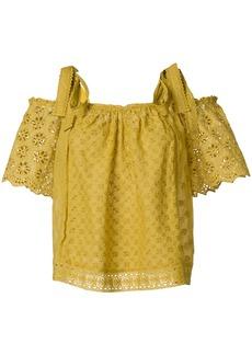 Ulla Johnson cold shoulders blouse - Yellow & Orange