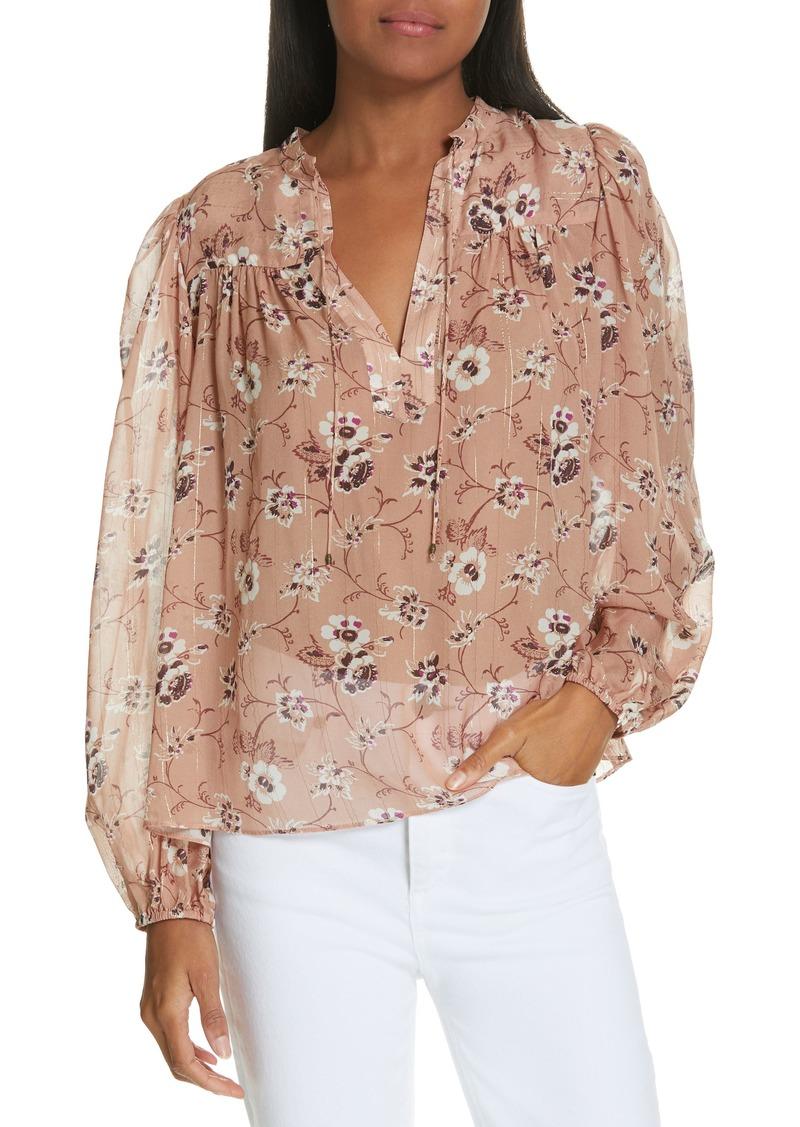 002962a014d88 Ulla Johnson Ulla Johnson Constance Floral Print Silk Blend Blouse ...