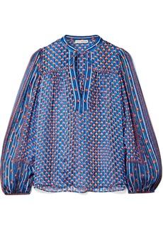 Ulla Johnson Constance printed silk-jacquard blouse
