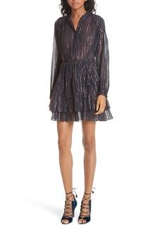Ulla Johnson Della Metallic Stripe Dress