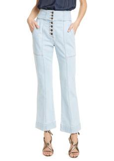 Ulla Johnson Ellis High Waist Crop Flare Jeans