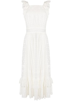 Ulla Johnson embroidered flared dress - White