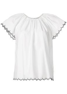 Ulla Johnson embroidered-hem blouse - White