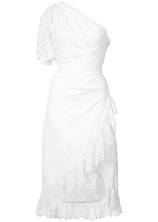 Ulla Johnson embroidered one shoulder dress - White
