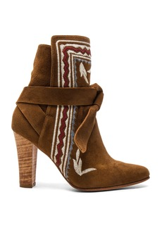 Ulla Johnson Embroidered Suede Aggie Booties
