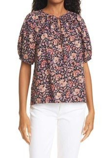 Ulla Johnson Evie Floral Puff Sleeve Top