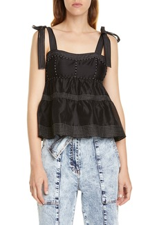 Ulla Johnson Evie Tiered Peplum Top
