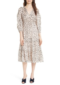 Ulla Johnson Fantine Floral Cotton & Silk Dress