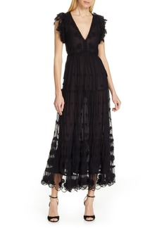 Ulla Johnson Fifi Embroidered Tulle Maxi Dress