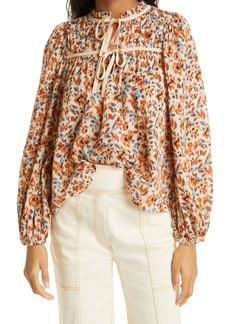 Ulla Johnson Floral Cotton Blouse