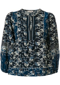 Ulla Johnson floral-embroidered blouse - Blue