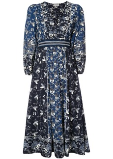 Ulla Johnson floral print midi dress - Blue