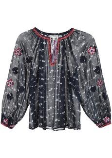 Ulla Johnson floral print peasant blouse - Blue