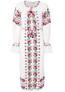 Ulla Johnson floral shift midi dress - White
