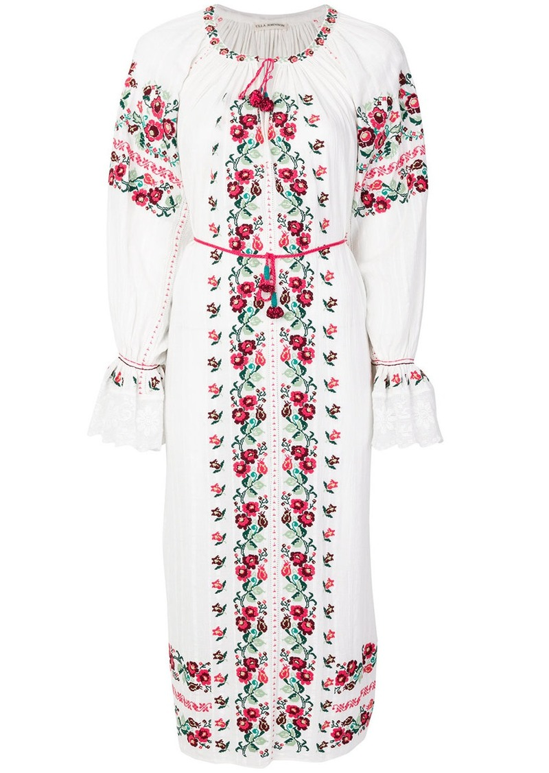Ulla Johnson floral shift midi dress