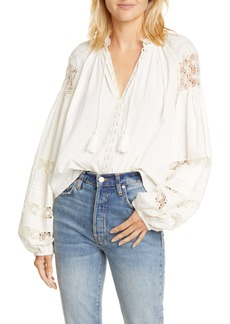 Ulla Johnson Gemma Crochet Detail Blouse