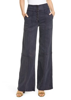 Ulla Johnson Greer Wide Leg Jeans (Charcoal)