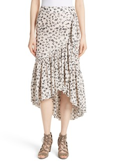 Ulla Johnson Gretchen Floral Cotton & Silk Skirt
