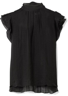 Ulla Johnson Heddy Embroidered Silk-georgette Top