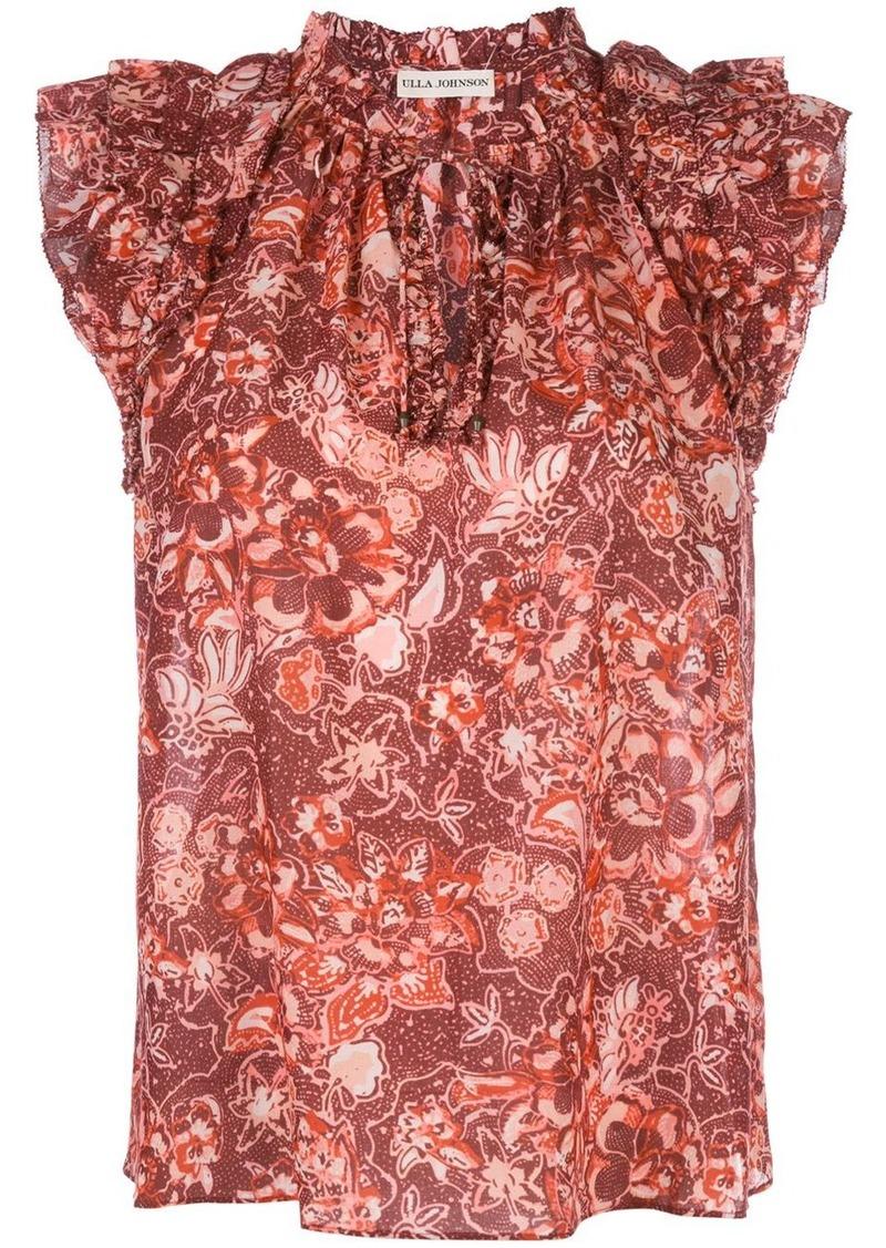 Ulla Johnson floral sleeveless blouse