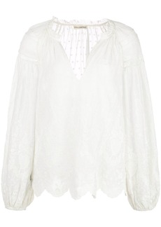 Ulla Johnson embroidered long-sleeved blouse