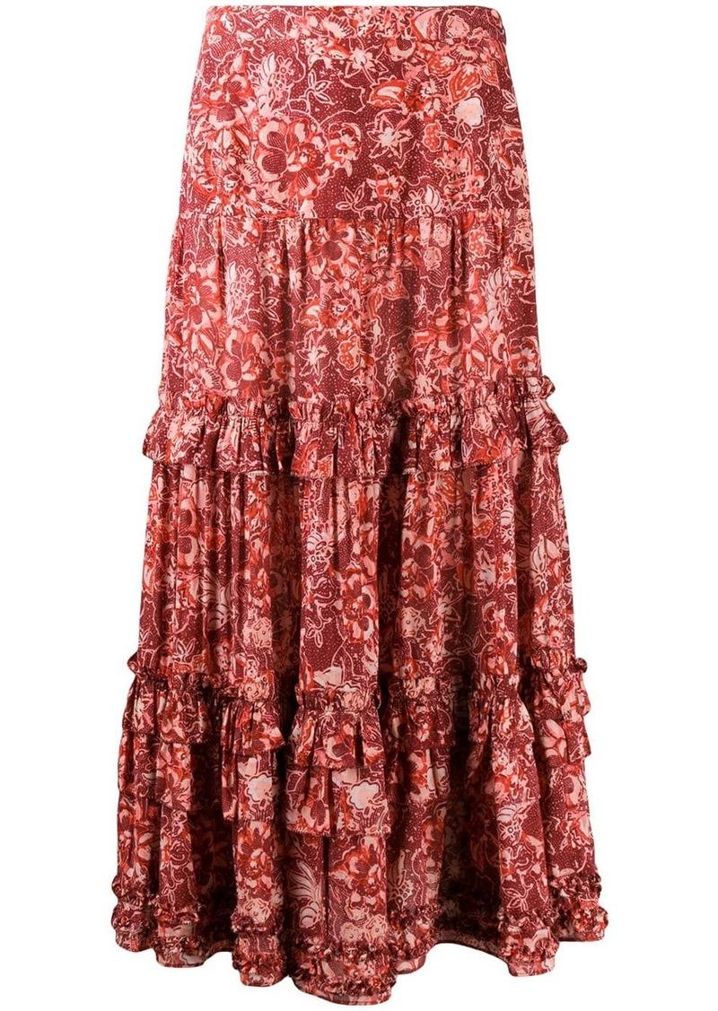 Ulla Johnson floral print maxi skirt