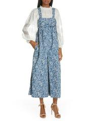 Ulla Johnson Iggy Floral Print Wide Leg Jumpsuit