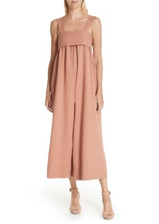 Ulla Johnson Iggy Linen & Cotton Blend Wide Leg Crop Jumpsuit
