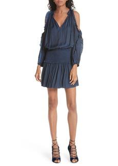 Ulla Johnson Isla Cold Shoulder Satin Dress