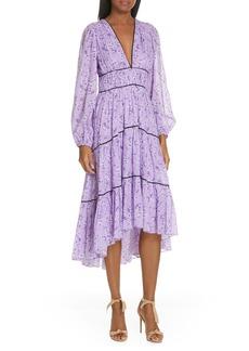 Ulla Johnson Joan Floral Print Cotton & Silk Midi Dress