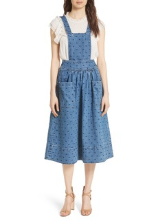 Ulla Johnson Johanna Polka Dot Pinafore Dress