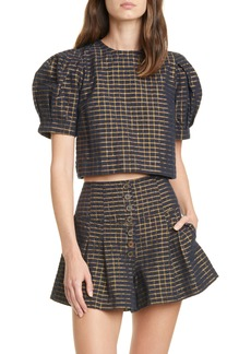Ulla Johnson Jude Plaid Crop Top