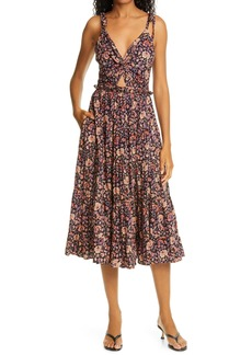 Ulla Johnson Kali Floral Tiered Sundress