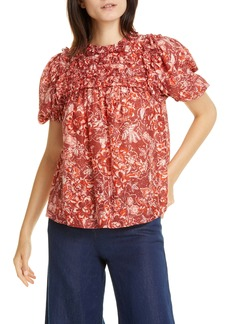 Ulla Johnson Klea Ruffle Floral Top