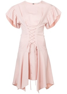 Ulla Johnson lace front ruffle dress - Pink & Purple