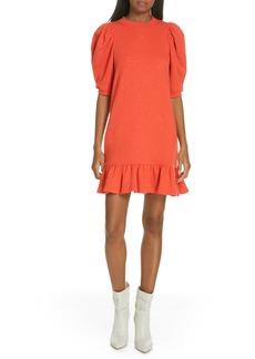 Ulla Johnson Landry Puff Sleeve Sweatshirt Dress