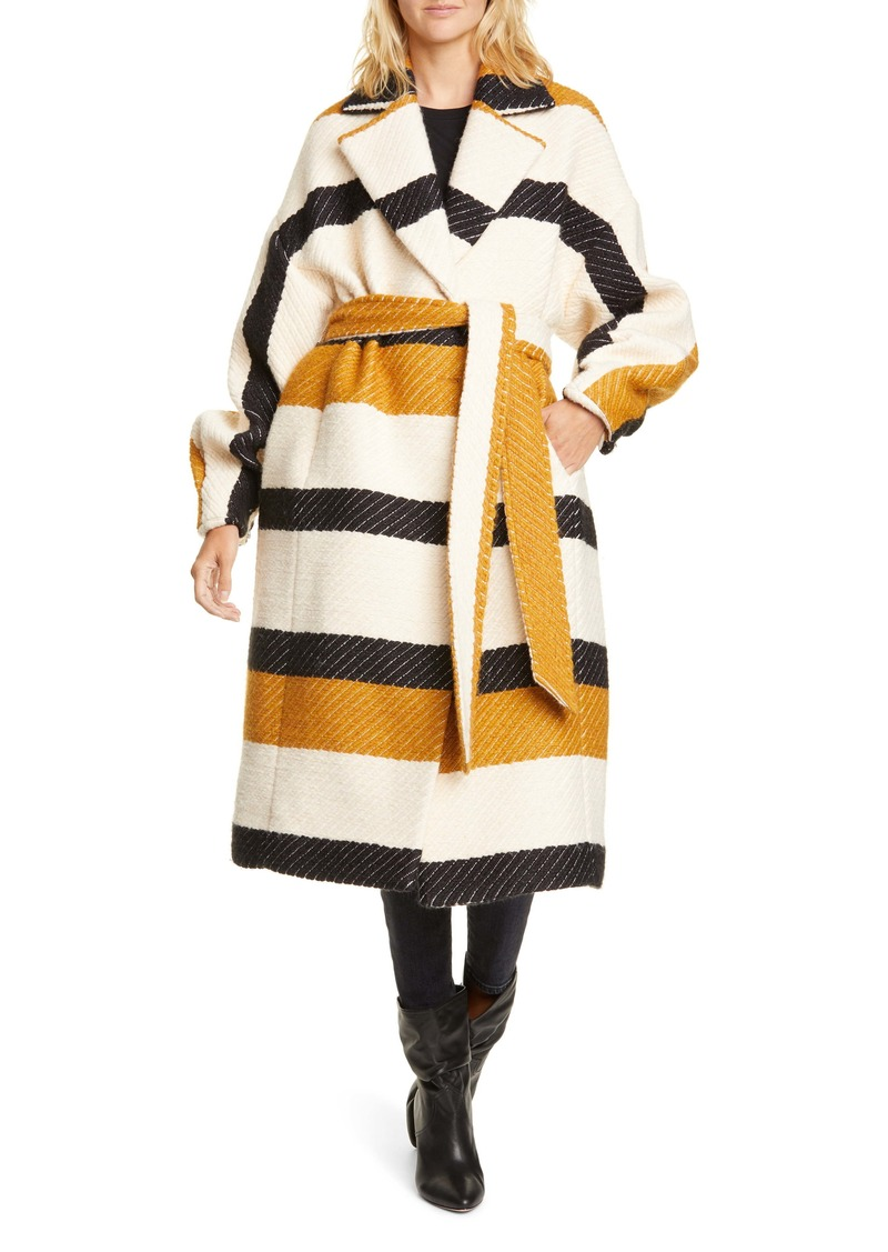 Ulla Johnson Lawson Stripe Wrap Coat