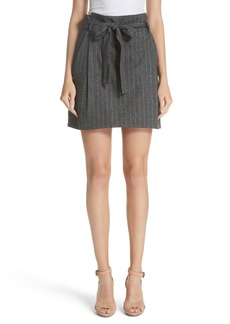 Ulla Johnson Leo Paperbag Waist Wool & Silk Blend Skirt