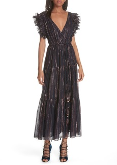 Ulla Johnson Liliana Metallic Stripe Dress