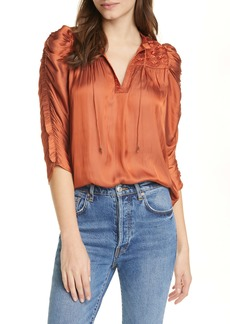 Ulla Johnson Lissa Ruched Blouse
