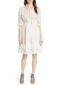 Ulla Johnson Madison Openwork Detail Dress