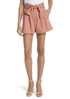 Ulla Johnson Martim Tie Waist Twill Shorts