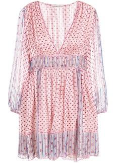 Ulla Johnson Martine short dress - Pink & Purple