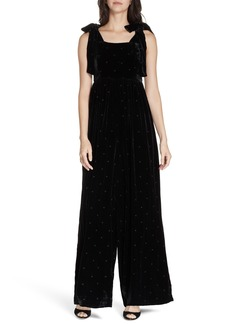 Ulla Johnson Minnet Dot Velvet Jumpsuit