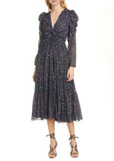 Ulla Johnson Miya Spot Print Long Sleeve Midi Dress