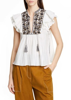 Ulla Johnson Nuru Embellished Blouse