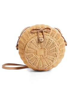 Ulla Johnson Pomme Woven Rattan Shoulder Bag