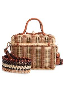 Ulla Johnson Priska Lunchbox Woven Wicker Bag